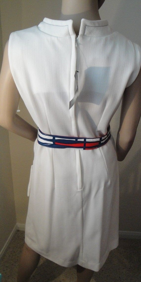 VTG Deadstock 60's Nautical PinUp GO-GO Mod Scooter Twiggy SPACE AGE Dress 10