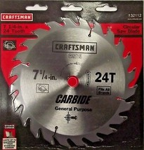 "Craftsman 32112 7-1/4"" x 24 Tooth Carbide Saw Blade - $3.96"