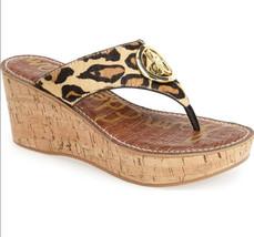 Sam Edleman Ruth 7.5 Wedge Sandals Leopard Print - $24.99