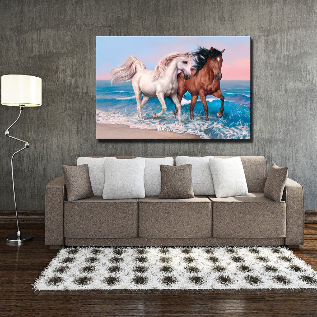 "Art Star Wars Original Oil Painting Print On Canvas Two Horse 24""x36""x1pcs"