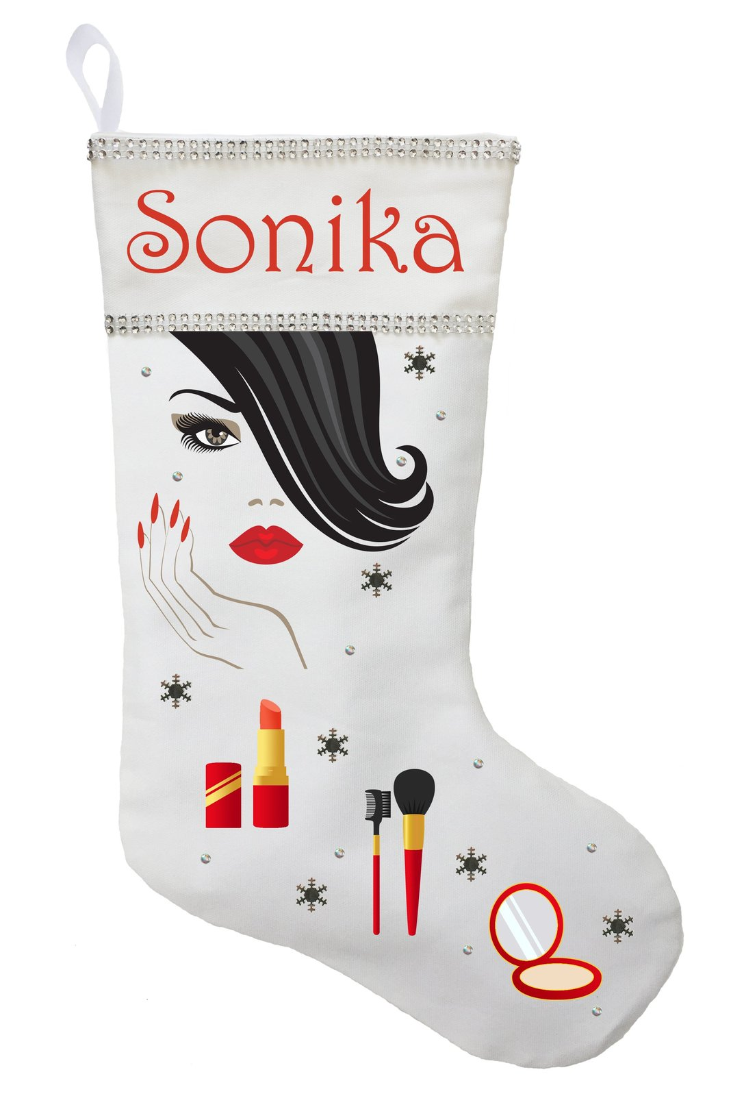 Beauty Christmas Stocking - Personalized and Hand Made Tween Christmas Stocking
