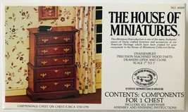 House of Miniatures 1:12 Chippendale Chest on Chest Circa 1750-1790 Kit #40009 - $19.34
