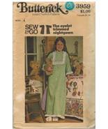 3959 Butterick Cartamodello Bambine Vintage Occhiello Smerlato Camicia d... - $6.98