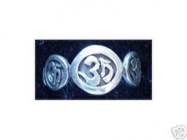 NICE Celtic Trinity Om Hindu Shiva Vishnu Brahma Ring Yoga Buddha breath... - $25.42