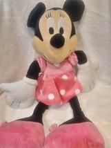 "Minnie Mouse Plush Pink Polka Dots Medium 19"" Disney - $13.48"