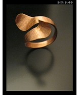 Fabricated WrapAround Artist made Custom COPPER Jewelry Art RING - Size ... - $1.527,54 MXN