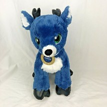 Build A Bear Tinsel The Speedster Blue Reindeer Plush Merry Mission BAB ... - $24.74