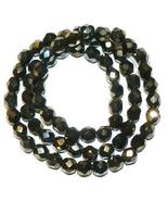 """Iris Brown Czech Fire-Polished 6mm Faceted Round Glass Bead 16"""" - $29.70"""