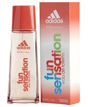 Adidas Fun Sensation for Women by Coty Eau de Toilette Spray 1.7 oz New - $6.81