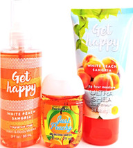 Bath & Body Works Get Happy Body Cream, Body Spray & PocketBac Travel Set - $325,90 MXN