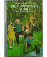 Bobbsey Twins Dr. Funnybone's Secret #65 purple & white spine picture co... - $6.00