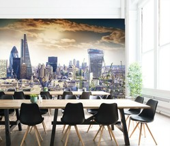 3D City Building P45 Business Wallpaper Wall Mural Self-adhesive Commerc... - $13.49+