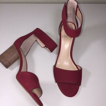Vince Camuto NEW Womens Sz 8.5 Jacon Ankle Strap Sandal Red Block Heel S... - $67.27
