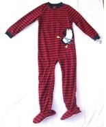 Carters Fleece Footed Pajama Blanket Sleeper 7 8 10 12 14 Stripe Karate ... - $23.74