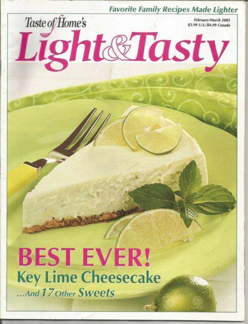 Primary image for Taste of Home's LIGHT & TASTY Magazine February/March 2005 - Key Lime Cheesecake