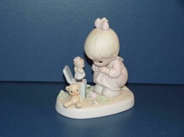 """Precious Moments 523755 """"Just Poppin' In to Say Halo"""" 1994 Figurine (No Box - $8.82"""