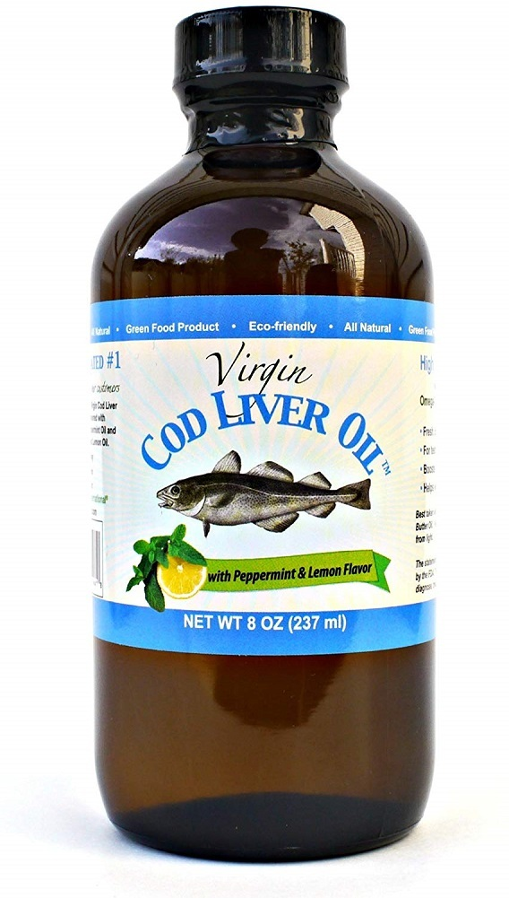 Primary image for Virgin Cod Liver Oil - Natural, Wild Caught (Lemon and Peppermint Flavored)