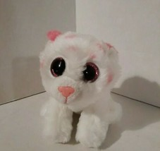 Ty beanie boo Tabor the tiger / White with pink stripes and ears  - $7.16