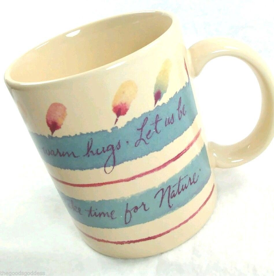 FRIEND SMILES HUGS Coffee Mug Natural Expressions Hallmark Earth Sunshine Nature