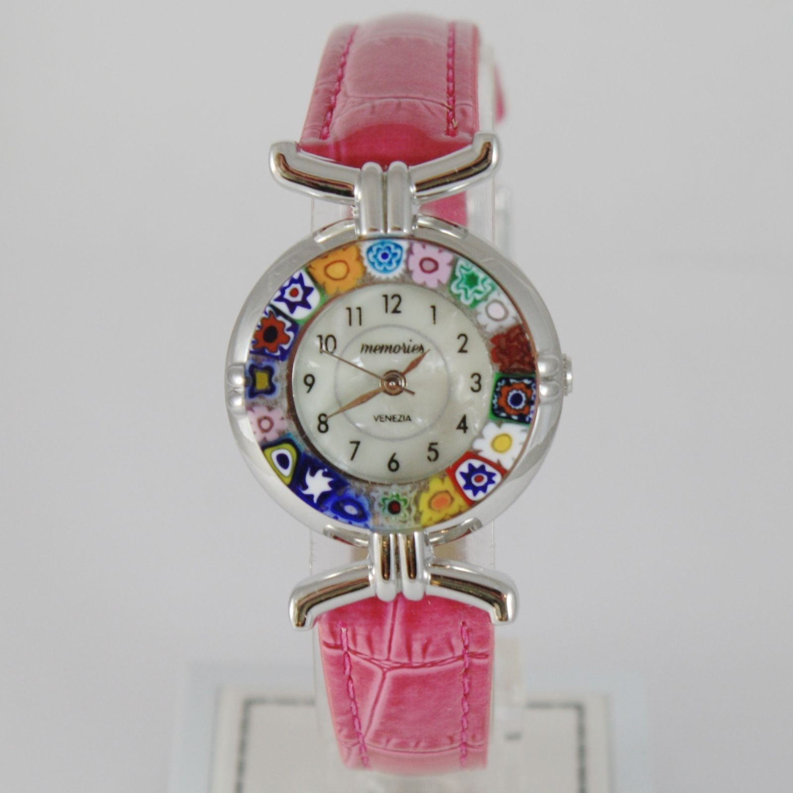 ANTICA MURRINA VENEZIA QUARTZ WATCH 27 MM, FUCHSIA, MURANO FLOWER GLASS