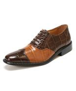 LIBERTYZENO Oxford Dress Shoes for Men Leather Upper Croco Print  Lace U... - $49.99