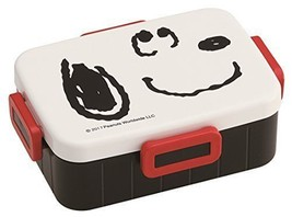 New 4 Point Lock Lunch Box 650ml Snoopy Face PEANUTS Made in Japan YZFL7 - $42.06
