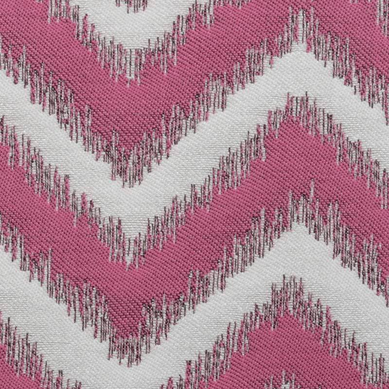 3.5 Duralee Upholstery Fabric Azalea Pink and White Chevron 15491-648 DF