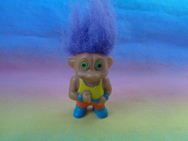 Vintage Soma Miniature Troll Purple Hair - $2.92
