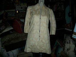 LEE MATHEWS Workroom Vintage Charming Champange Silk Coat Size S - $108.90