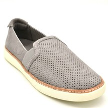 Vionic Womans Malina Slip On Sneaker Sz 6 W Gray Perforated Suede Cushioned NEW - $49.49