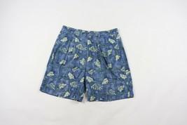 Vintage 90s Chaps Ralph Lauren Mens Size 32 All Over Floral Print Shorts Cotton - $39.55