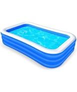 "FASOON Family Inflatable Swimming Pool, 120"" X 72"" X 22"" Full-Sized Swim... - $98.00"