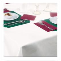 50 x 54 Linen Like White Tablecover/Case of 48 - $208.00