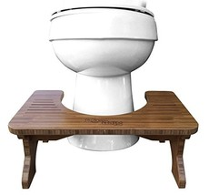 """Step and Go Bamboo Squatting Toilet Stool for Potty Aid 7"""" and 9"""""""
