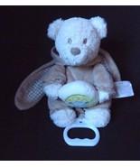 Nicotoy Tan Teddy Bear Plush Musical Crib Baby Toy Belgium Bunny Pjs - $12.69