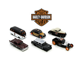Maisto Harley Davidson Assortment Wave 1 6 Cars Set 1/64 Diecast - $52.46