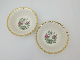 Royal China Cereal Bowl Set of 2 Ming Tree White Floral Bird 22 KT Gold ... - $19.34
