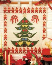 Cross Stitch Xmas Tree Santa Wall Hanging Angel Doll Reindeer Pot Holder... - $6.99