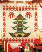 Cross Stitch Xmas Tree Santa Wall Hanging Angel Doll Reindeer Pot Holder Pattern - $6.99