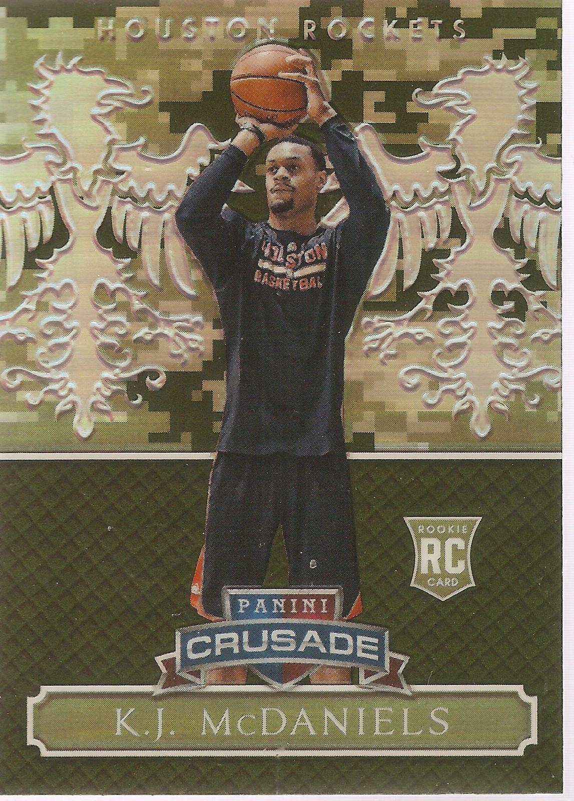 Primary image for KJ McDaniels Excalibur 14-15 #162 Camo Crusade Prizm Houston Rockets Brooklyn