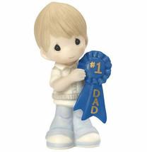 Precious Moments Boy #1 Dad Figurine Blue Ribbon Number One NWOB  - $35.63