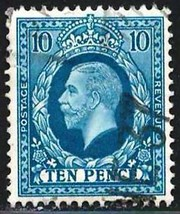 Great Britain 1913 Very Fine Used Stamp Scott # 171 George V  10p  CV  2... - $14.15