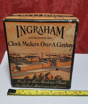 Vintage Ingraham Utility Alarm Clock Paper Box Container