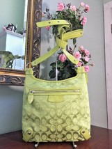 Coach Convertible Crossbody Shoulder Bag Celery Green Jacquard F14689 B2G - $96.30