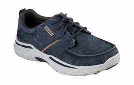 Men's Skechers Relaxed Fit Expended Bermo Boat Shoe Blue - $101.90