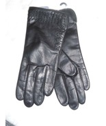 Fownes Genuine Leather Cashmere Blend Kisses Gloves,Medium, Black - $48.26