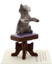 Hagen-Renaker Miniature Ceramic Figurine Keyboard Cat on Bench Playing Piano image 5
