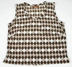 ELLEN TRACY  WOMENS SIZE MEDIUM SLEEVELESS TOP BLOUSE SHIRT - $14.84