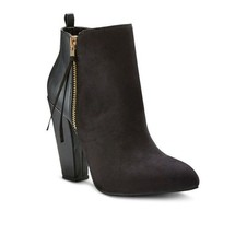 Black High Heeled Zip Womens 9 Avie Bootie Up Pumps Mossimo Shoes wxqBUXSz