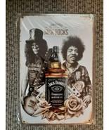 Jack Daniels Whiskey - Slash & Jimi Hendrix Tin Man Cave Metal Wall Sign NEW - $29.40
